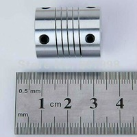 Free Ship,Aluminium Flexible CNC Stepper Motor Shaft Coupler,Inner Diameter: 5*6.35, Out Diameter:20mm