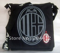 AC Milan FC Soccer Shoulder Bag Satchel Handbag Messenger Bag Black