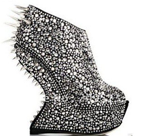 Silver Heels With Spikes | Tsaa Heel