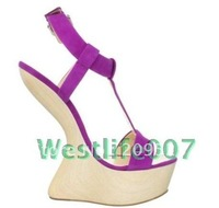 2012 No heels pumps purple wedding shoes sexy high heel pumps open toe platform heels red bottom shoes