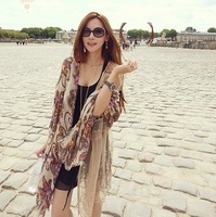 Free shipping The European 2012  do mail bag with cotton shall restore ancient ways totem air conditioning shawls  scarf