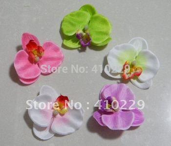 DIY Moth Orchid Head,Artificial Flowers Mix Order 7 Colors 50pcs/lot AF181