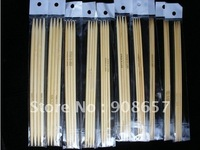 "10*4 pcs 8"" Bamboo Double Pointed Knitting Needles US0-9"