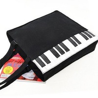 2012 new fashion sale bar music match canvas bag lady bag  black Piano bag handbag