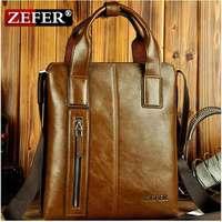 ZEFER Men Cow Leather messenger briefcases and tote bag ,designer handbag