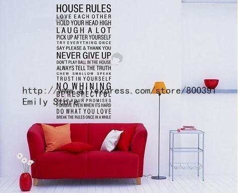 Free shipping POPULAR! NEW! 120cm*60cm Art Words Motto Poem HOUSE