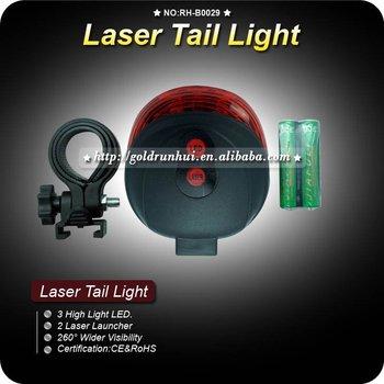 1pcs/lot RA 3LED Cycling Bike Bicycle 2 Laser Light Beam Rear Tail Light Lamp RH-B029 ,Free Shipping