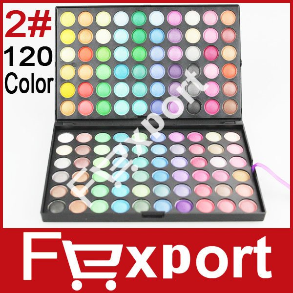 Wholesale 120 Colors Eye Shadow 2# Cosmetic Makeup Eyeshadow Palette Set 3 Sets/ Lot(China (Mainland))