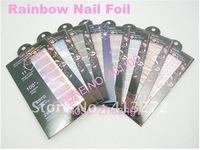 Brand New Rainbow Brilliance Shiny Self Adhesive Minx Styel Nail Sticker NEW Nail Fashion Film Nail Patch