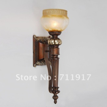 E27 Indoor lighting fixture home or hotel poly resin decorative room wall light furniture matching lamps