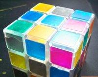 Free shipping of Transparent magic cube 3x3x3