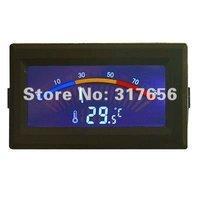 Free ship,DC 5V Digital Thermometer Temperature Meter Gauge -10 Deg C - 80 Deg C C/F PC MOD With Probe