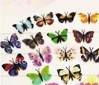100x 3D Wall Stickers butterflies Art room refrigerator decor sticker Girls Nursery