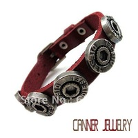 sl340/,high quality  punk  cowhide  bracelet,Rock styel,100% Pure handmade jewelry,100% genuine leather.leather bracelet