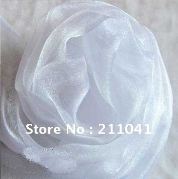 Wholesale  Party Organza Fabric white color 48CM Width 50M long wedding accessories
