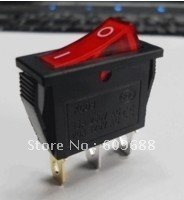 KCD3-102N Red Indicator On/off Single Throw Rocker Switch,illuminated boat switch