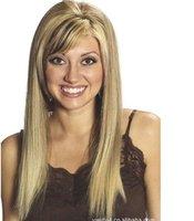 2012 Hot sales,Fashion wig, long straight hair, inclined bang,free shopping.