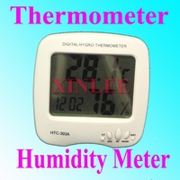 10pcs/lot Whole set LCD Digital Temperature Humidity Meter Thermometer HTC-303A FREEshipping wholesale