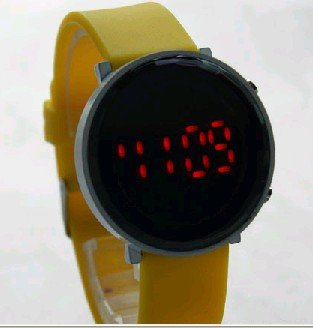 The new South Korean fashion round LED mirror watch wild watches, LED electronic watches