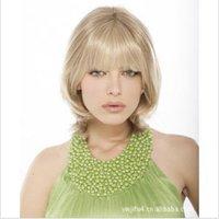 2012 Hot sales,Ms short hair, short roll, fashionable blonde wig, fashion model wig,  charming wig,free shipping.