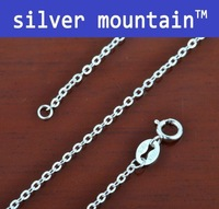 "Wholesale1pc  16"" 925 Italy 925 Sterling Silver Rolo link chain necklace Fine jewelry 1.2mm 1.45g"