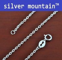 """Wholesale1pc  20"""" 925 Italy 925 Sterling Silver Rolo link chain necklace Fine jewelry 1.2mm 1.85g"""