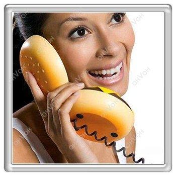 S5Q Geek Hamburger Cheeseburger Burger Telephone Home Desktop Corded Juno Phone
