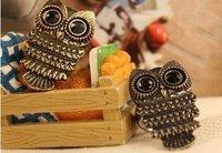 Minimum order $20 (mix order)  Fashion jewelry black eyes' owl ring hot sale