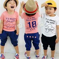 2012 summer circleof boys clothing girls clothing baby casual set tz-0396