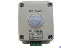PIR switch DC 12V-24V 8A Motion Sensor Switch infrared controller For Lighting Light Ceiling Wall