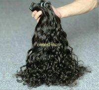 "hair extension 16"" #2 63g/bundle 5bundles/lot Italian curl Indian human hair weft"