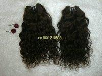 "free shipping hot sale 20""  63g/bundle 5bundles/lot  hair extension  Italian curl #2 Indian human hair weft"
