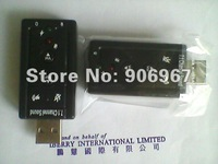 Free Shipping by DHL (900PCS/lot) New USB 7.1 Channel 3D Audio Sound Card Adapter Channel / Headphone Mic Out Port