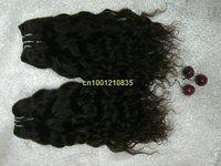"best quality free shipping Italian curl #1 jet black 24""  80g/bundle  hot sale 5bundles/lot Indian human remy hair extension"