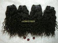 "grade 5a hot sale 5bundles/lot  Italian curl 24""  #2 natural black 80g/bundle  Indian human remy hair extension"
