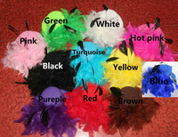 5''   fashion Feather Hair Clip , Assorted colors Free shipping  12pcs/lot