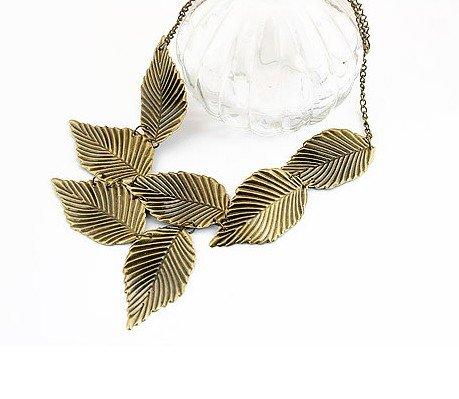 Minimum-order-20-mix-order-Bronze-Leaves-necklace-hot-sale-fashion
