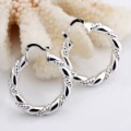X&M Free shipping/Promotion wholesale silver circle earrings, high quality silver earrings,wholesale fashion jewelry,E016