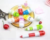 free shipping  Fashion Korea Stationery cartoon ballpoint pen flexible capsule ball pen kawaii lovely gift