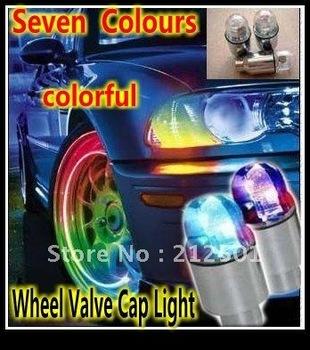 Бесплатная доставка оптовая продажа из светодиодов колеса 50 шт./лот в продаже из светодиодов вспышка шин колес свет крышки клапана
