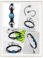 Free Shipping 30pcs/lot Fashion Shamballa Bracelets For Women Handmade Crystal Pave Beads Bracelet Best Gift 10mm SB20
