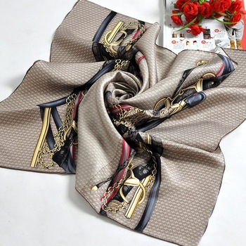 HOT SALE Free Shipping Brand Designer slanting stripe silk large facecloth mulberry square silk scarf