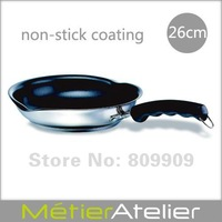 26cm non-stick frying pan with spouts 18/10 stainless steel giftbox packing K0067C