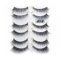 FREE SHIPPING HIGH QUAITY Hand Made Thick Cross Long tail False Eyelash 10Pairs decorative Eyelashes EL-454#