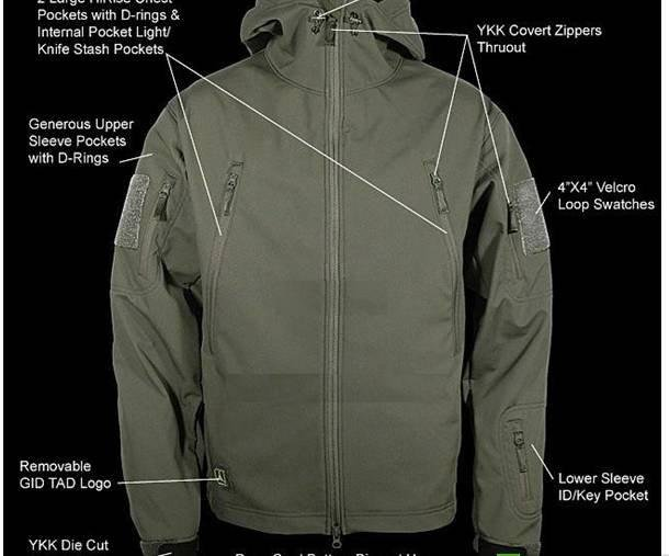 Free shipping 2011 men camping the lurker shark skin soft shell V4.0 fourth generation prevent wind breathe freely jacket(China (Mainland))