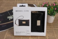 Wholesale  -  High quality original Micheal  wallet Real leather case for 4G 4S 20PCS/LOT free shipping