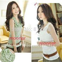 Newest Fashion Round Neck Halter  Floral Camisole Vest Backing Shirts Sleeveless  E0410#M4