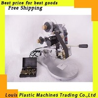 Free Shipping Manual Hot Foil Stamp Date Coder label printer ribbon coding machine