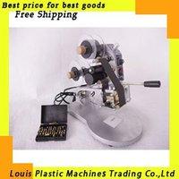 Free Shipping Manual Hot Foil Stamp Date Coder label printer ribbon coding machine
