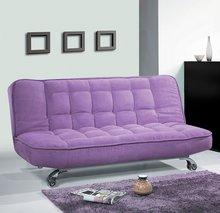 Frete grátis! Flanela e estrutura de metal de forma bonito prático e moderno sofá de design cama-melhor preço-DA-81(China (Mainland))